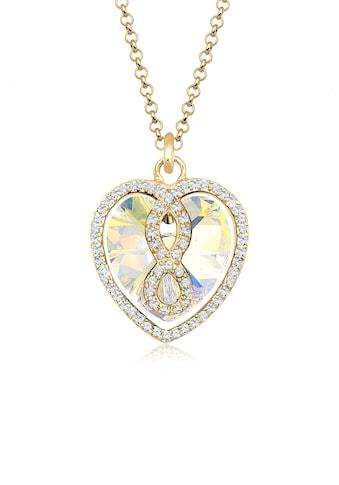 Elli Collierkettchen »Herz Infinity Swarovski® Kristall Icône 925 Silber« kaufen