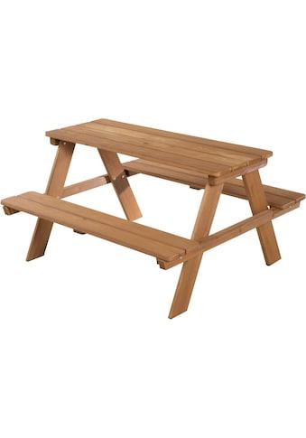 roba® Kindersitzgruppe »Picknick for 4 Outdoor Deluxe, Teakholz«, (Set, 1 tlg.), mit abgerundeten Ecken kaufen