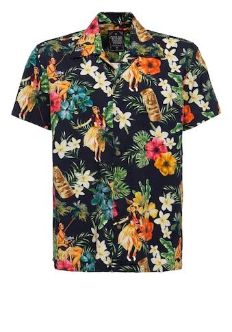 KingKerosin Hawaiihemd »Dancers«, mit floralem Print mit Tänzerinnen kaufen