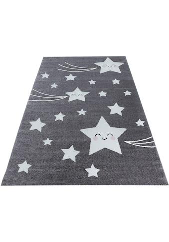 Ayyildiz Kinderteppich »Kids 610«, rechteckig, 12 mm Höhe, Motiv Sterne, Kurzflor kaufen