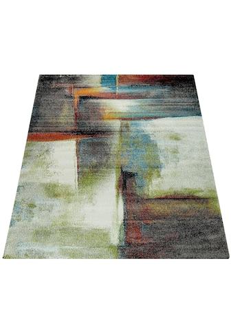 Paco Home Teppich »Brillance 710«, rechteckig, 18 mm Höhe, Kurzflor mit buntem Design,... kaufen