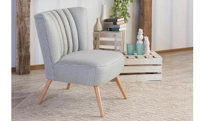Max Winzer® Sessel »Aspen«, HAHNENTRITT, im Retrostil kaufen