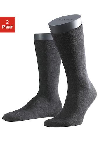 FALKE Socken »Berlin«, (2 Paar), mit sensitve Bündchen ohne Gummi kaufen