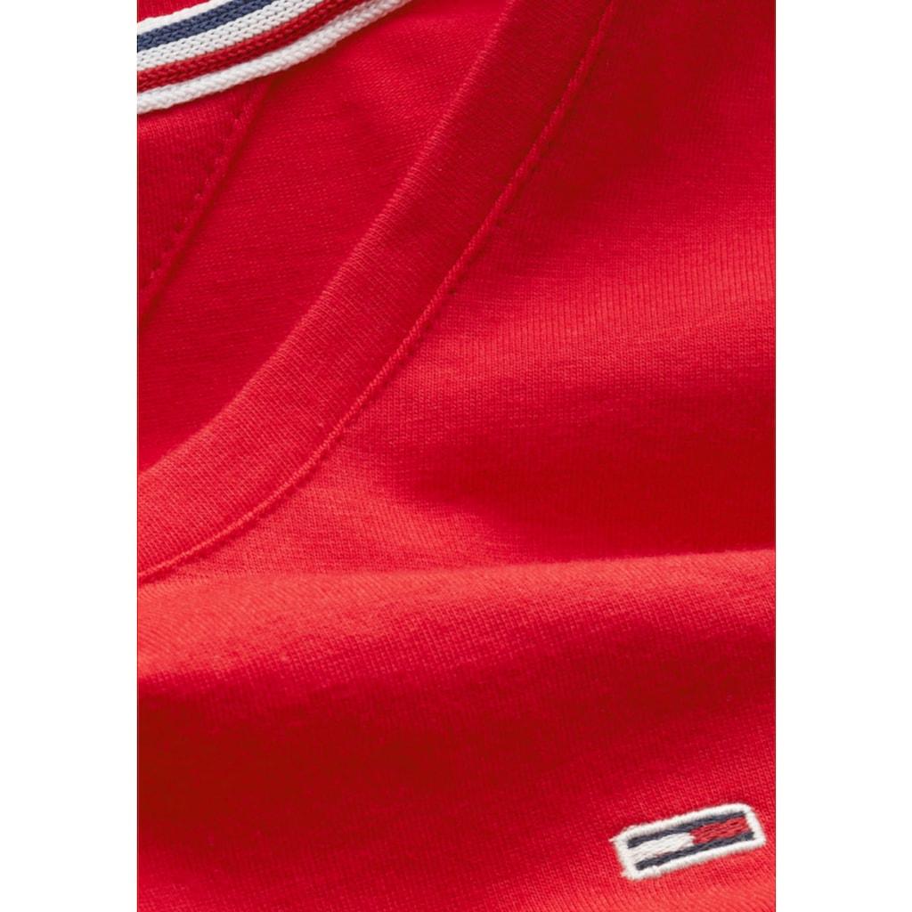 TOMMY JEANS Langarmshirt »TJW STRETCH JERSEY SCOOP NECK«, mit Tommy Jeans Logo-Flag auf der Brust