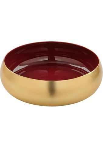 Fink Dekoschale »MAYLA, goldfarben«, Schale aus Metall, rund, handgefertigt,... kaufen