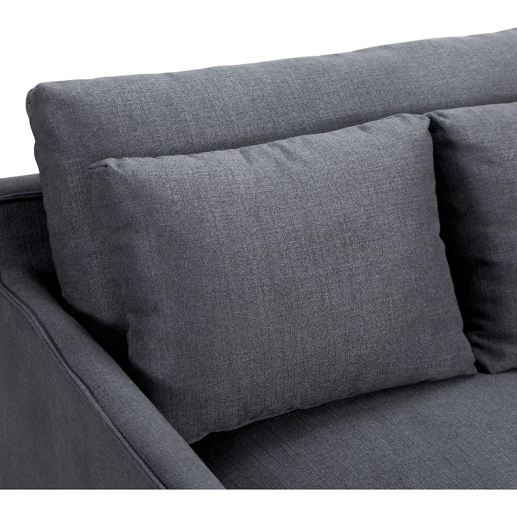 ATLANTIC home collection XXL-Sessel, Big Sessel, skandinavisch im Design, extra weich und kuschelig, Füllung mit Federn