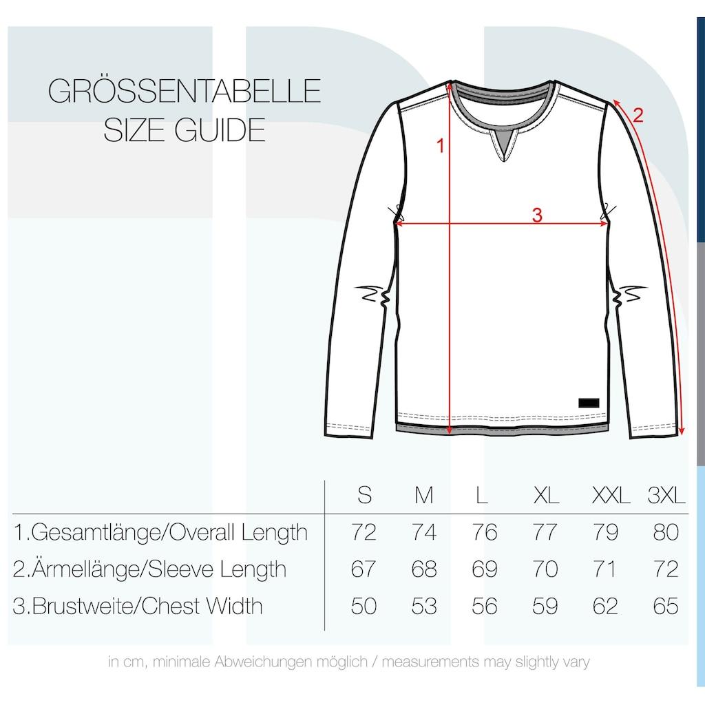 Blend Langarmshirt »Leonas«, Longsleeve mit Double-Layer-Optik