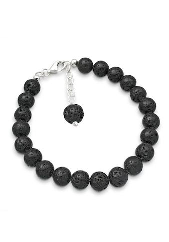 Elli Armband »Lavastein Rund Natur 925 Sterling Silber« kaufen