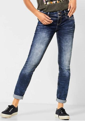 STREET ONE Slim-fit-Jeans, mit Crinkle-Effekt kaufen