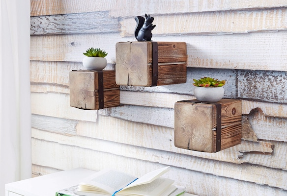 Regalwürfel aus Holz