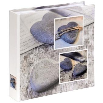 Einsteckalbum Fotoalbum  grau//schwarz 10x15 für 60 Fotos Fotobuch Buchalbum