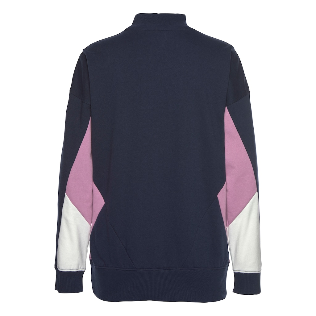 Bench. Sweatshirt, mit Stehkragen und Kontrastdetails