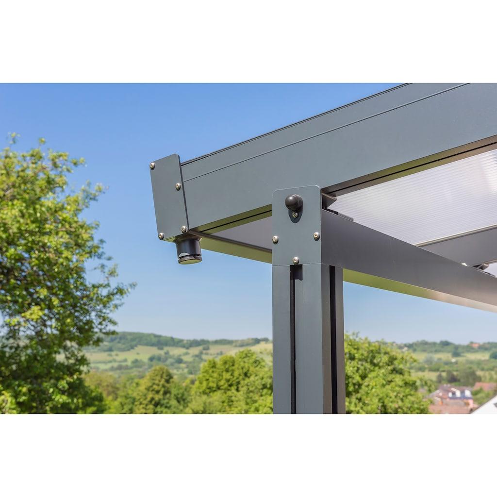 GUTTA Terrassendach »Premium«, BxT: 410x406 cm, Dach Polycarbonat gestreift weiß