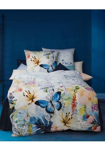 Kaeppel Wendebettwäsche »Summer Blues«, mit Blumen mit Schmetterlingen kaufen