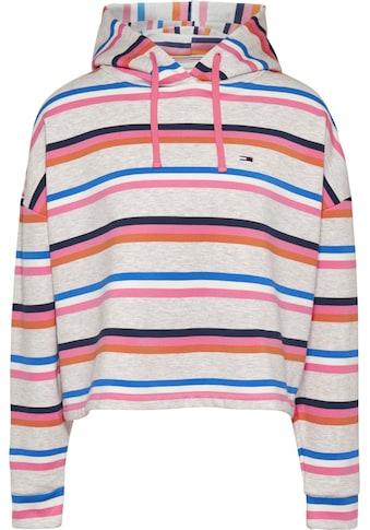 Tommy Jeans Kapuzensweatshirt »TJW BXY Crop Multi Stripe Hoodie«, im allover... kaufen