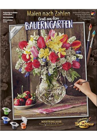 """Schipper Malen nach Zahlen """"Meisterklasse Premium, Gruß aus dem Bauerngarten"""" kaufen"""