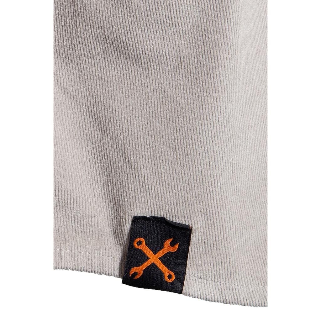KingKerosin Langarmhemd »Motor Way«, mit Stickerei im Rücken