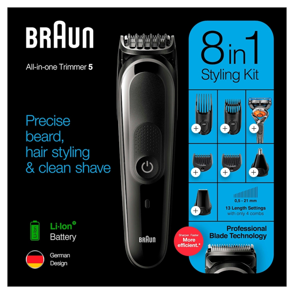 Braun Multifunktionstrimmer »8-in-1 Multi-Grooming-Kit 5 MGK5260«