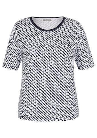 Rabe Kurzarmshirt, mit Allover-Muster und Kontrastbesatz kaufen