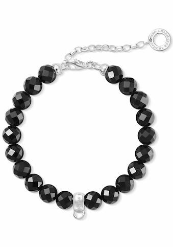 THOMAS SABO Charm-Armband »Schwarz, X0226-840-11-L18,5v«, mit Obsidian kaufen