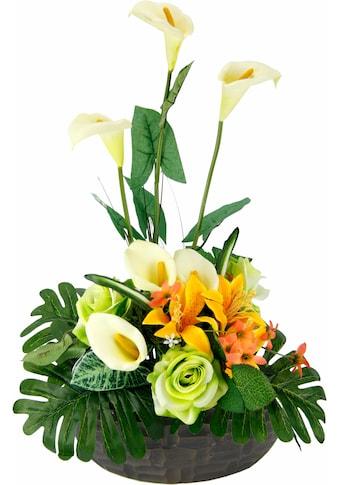 I.GE.A. Kunstpflanze »Arrangement Calla/Blüten 56/33 cm« kaufen