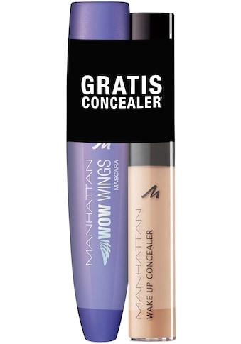 """MANHATTAN Make - up Set """"WOW Wings Mascara + gratis Wake Up Concealer"""", 2 - tlg. kaufen"""