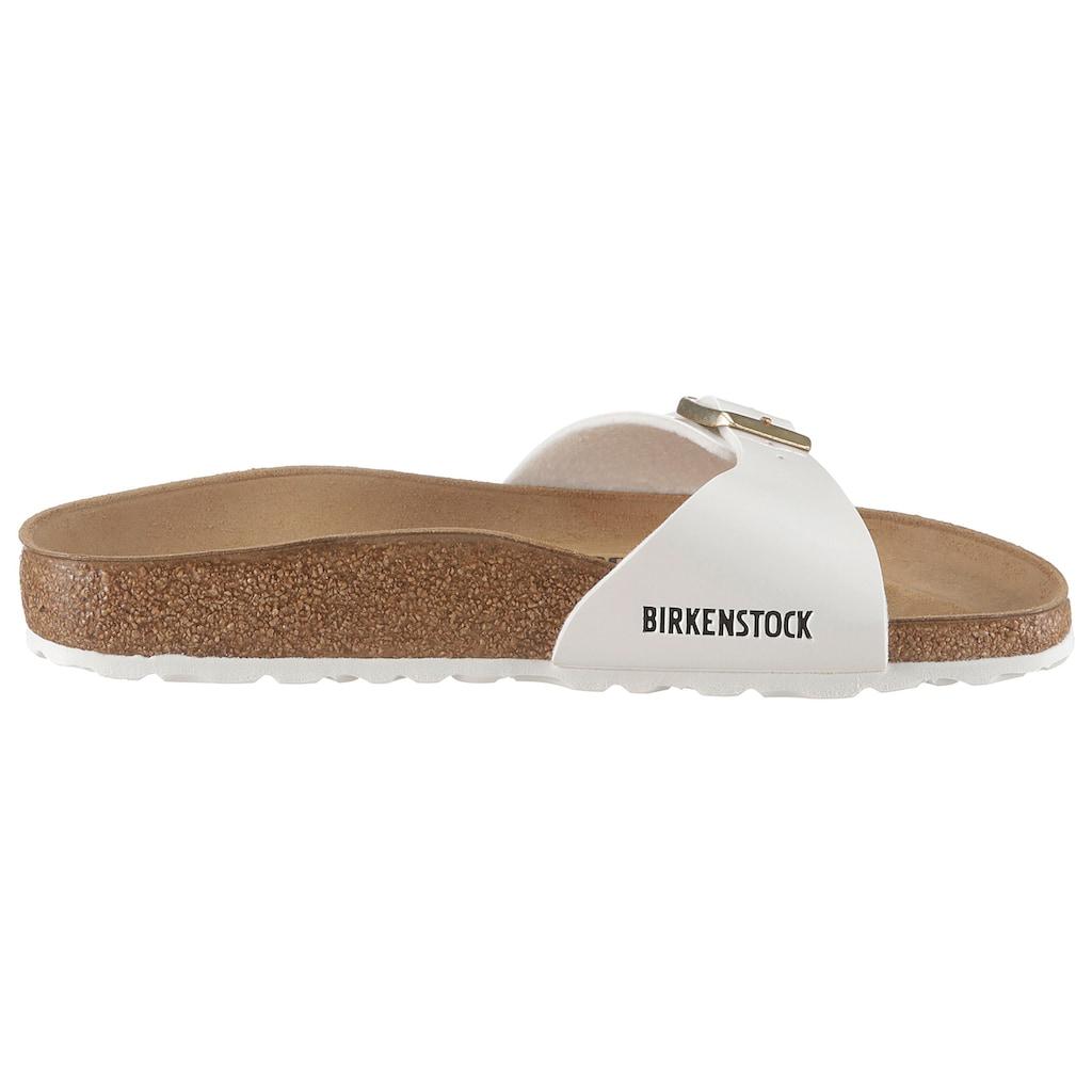 Birkenstock Pantolette »MADRID BF«, in Lack-Optik und schmaler Schuhweite