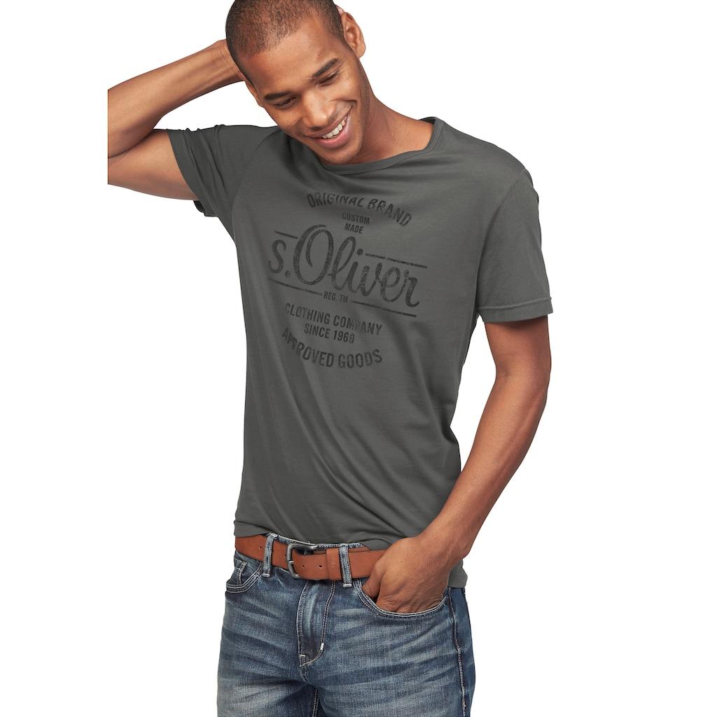 s.Oliver Rundhalsshirt, mit Frontdruck
