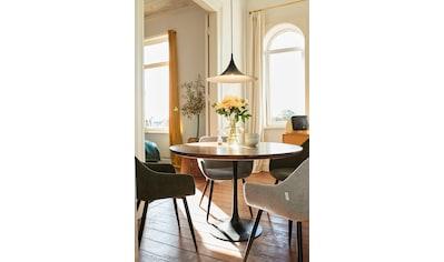 TOM TAILOR Esstisch »T-MODERN TABLE ROUND«, aus Mangoholz, Knopfdetail, Moderne... kaufen