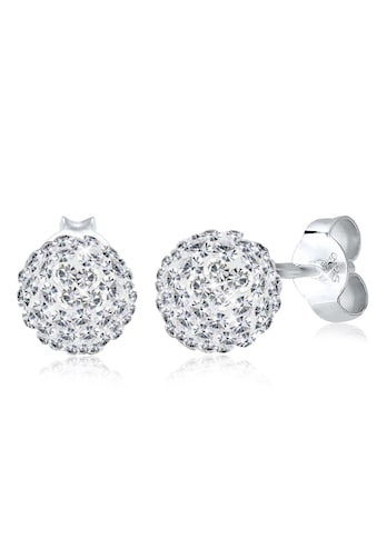 Elli Paar Ohrstecker »Kugel Rund Funkelnd Swarovski® Kristalle Silber« kaufen