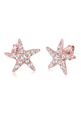 Elli Paar Ohrstecker »Seestern mit Swarovski® Kristalle funkelnd Silber« kaufen