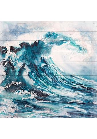 queence Holzbild »Hohe Wellen« kaufen