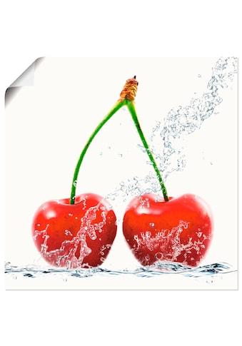 Artland Wandbild »Kirschen mit Spritzwasser« kaufen