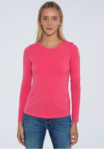 Pepe Jeans Langarmshirt »AMBERTA«, in schlichtem Design mit Marken-Logo-Detail kaufen