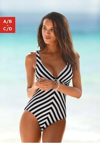 LASCANA Badeanzug »Scandal«, im Streifen-Design kaufen