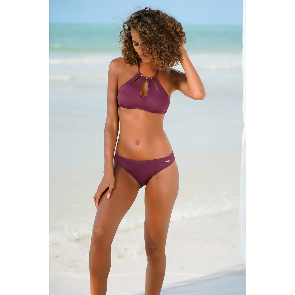LASCANA Bustier-Bikini-Top »Italy«, mit Zierperlen