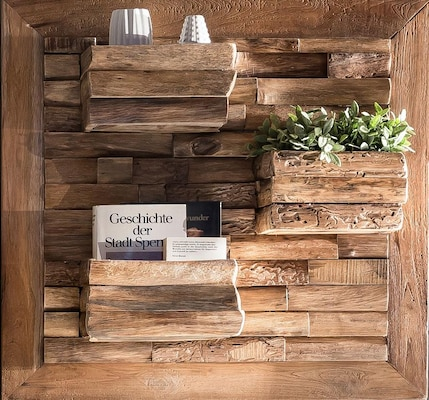 Wandkonsole aus Holz