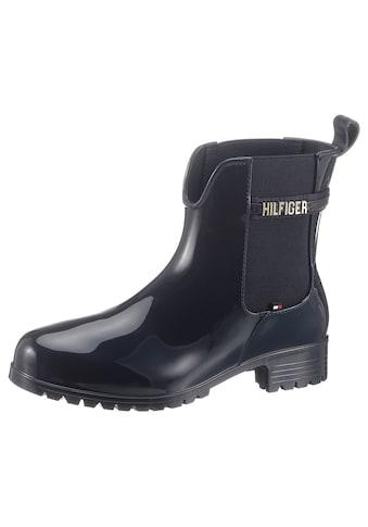 TOMMY HILFIGER Chelseaboots »BLOCK BRANDING RAINBOOT« kaufen