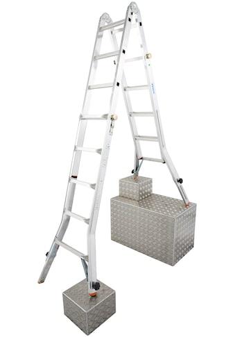 KRAUSE Gelenkleiter »TeleVario«, Alu, 4x5 Sprossen, Arbeitshöhe ca. 606 cm kaufen
