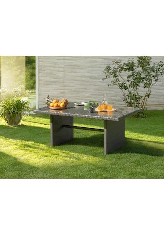KONIFERA Gartentisch »Malta«, B/T/H: 95x165x65,5 cm, Geflecht Rattan/Sicherheitsglas kaufen