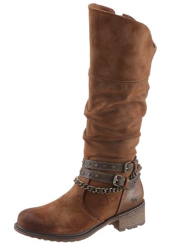 Mustang Shoes Stiefel, mit modischer Schaftverzierung kaufen