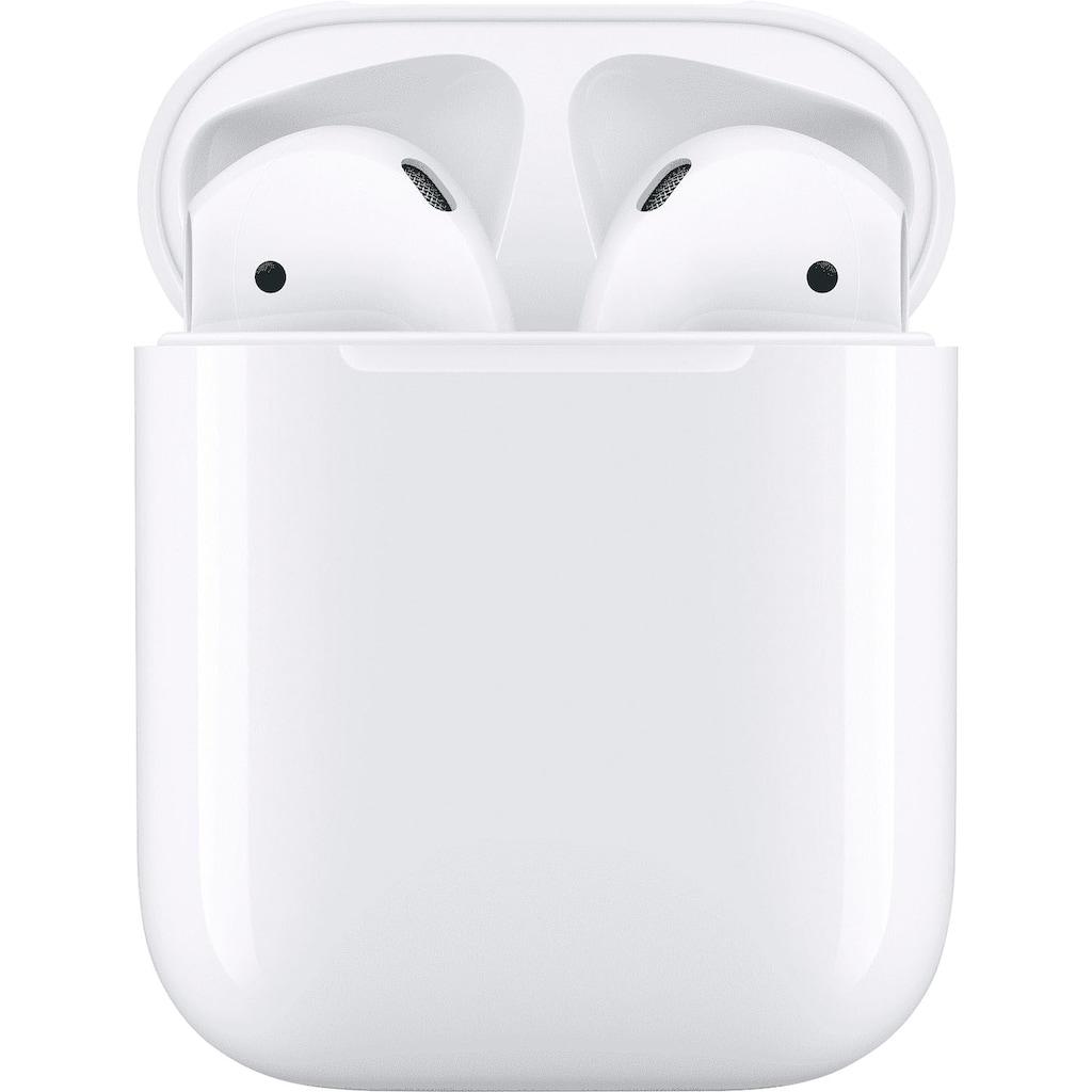 Apple In-Ear-Kopfhörer »AirPods with Charging Case (2019)«, Bluetooth, Sprachsteuerung-True Wireless, Kompatibel mit iPhone, iPhone XR, iPhone Mini, iPad Air / Mini / Pro, Watch SE, Series 6, Series 5, Series 4, Series 3, Mac Mini, iMac