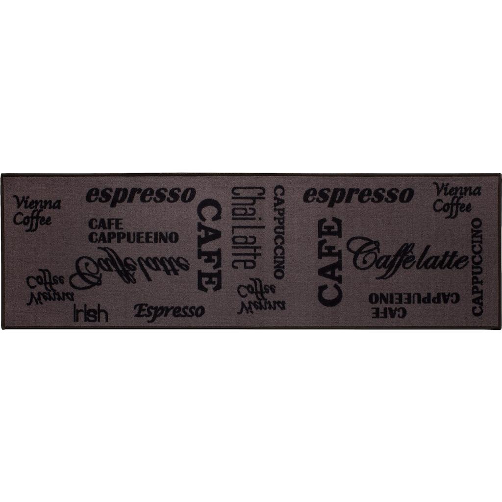 Andiamo Küchenläufer »Espresso«, rechteckig, 5 mm Höhe, mit Schriftzug, Kundenliebling mit 4,5 Sterne-Bewertung!