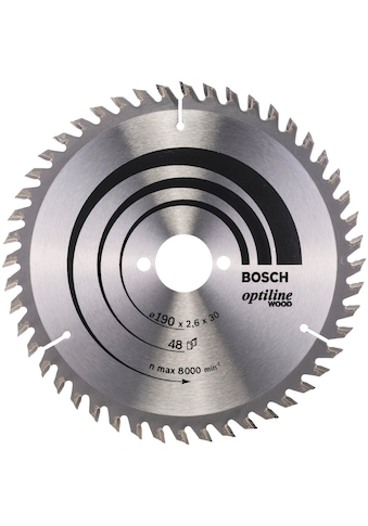 Bosch Professional Kreissägeblatt »Optiline Wood, 190 x 30 x 2,6 mm, 48«, 190 x 30 x... kaufen