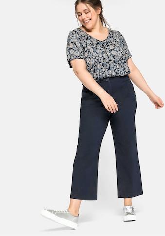 Sheego Bundfaltenhose, mit Stretchanteil kaufen
