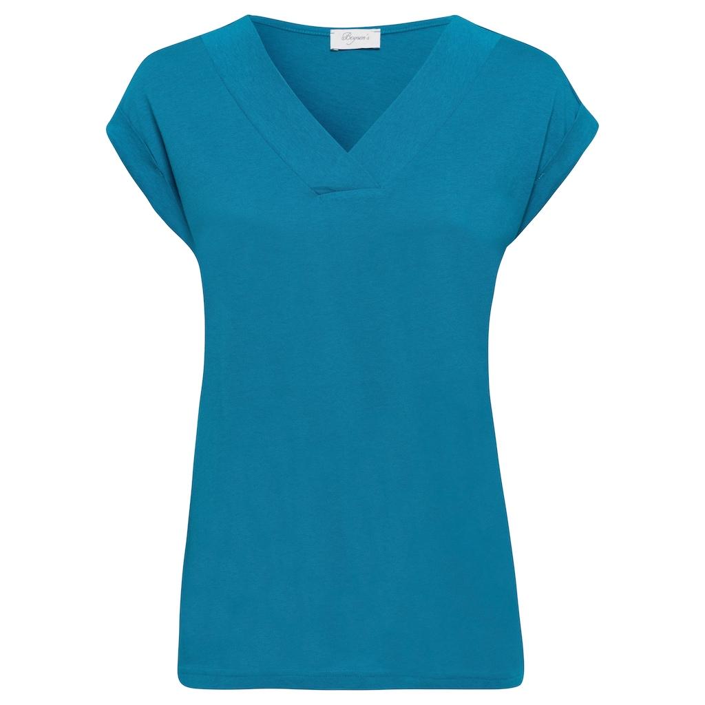 Boysen's V-Shirt, mit breiter Blende