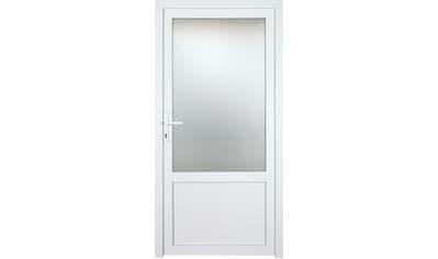 KM Zaun Nebeneingangstür »K603P«, BxH: 98x208 cm cm, weiß, links kaufen
