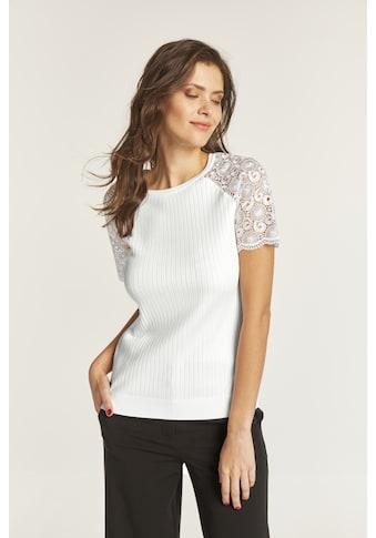 Pullover mit Spitzeneinsatz kaufen