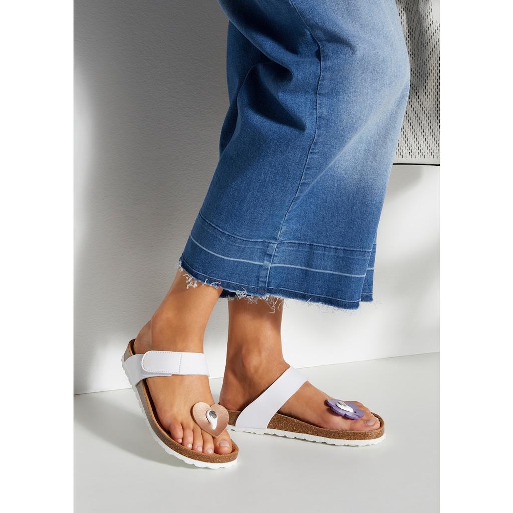 LASCANA Pantolette, mit auswechselbaren Elementen
