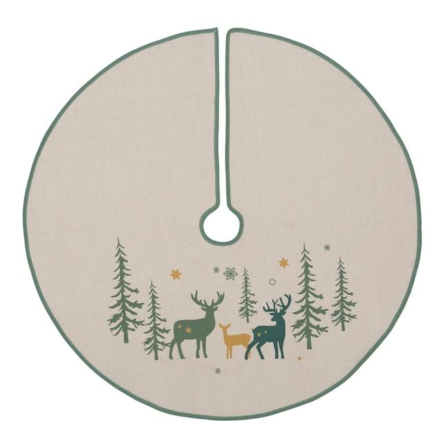 Baumteppich, »Hirsch«, , rund, Höhe 5 mm